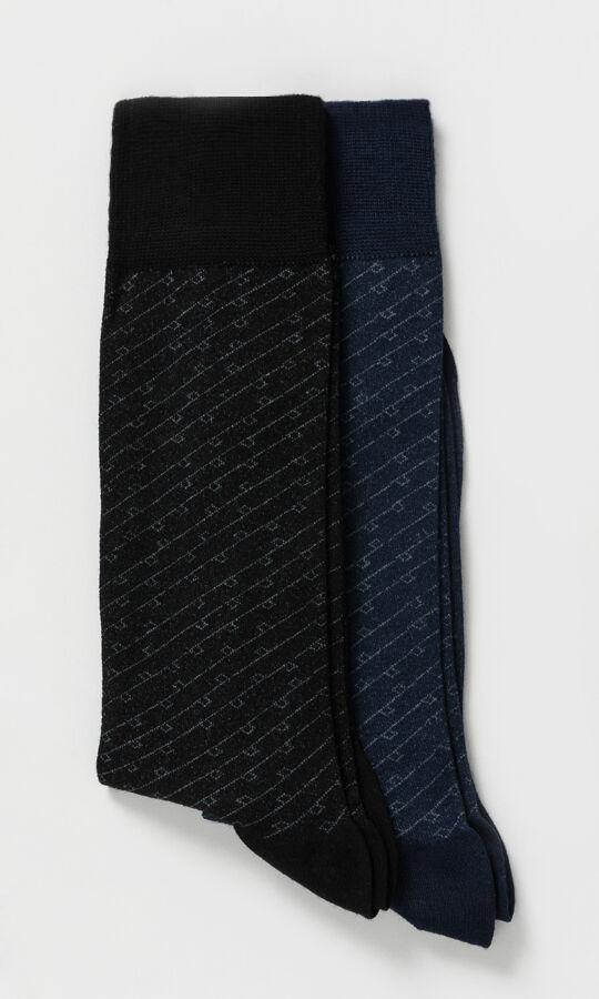 Hatem Saykı - 2'li Desenli Çorap
