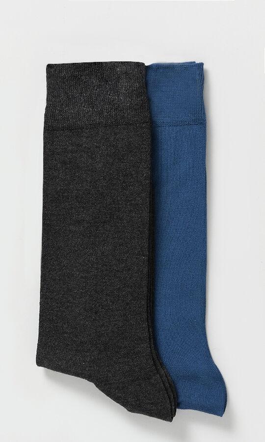 Hatem Saykı - 2'li Gri Mavi Çorap