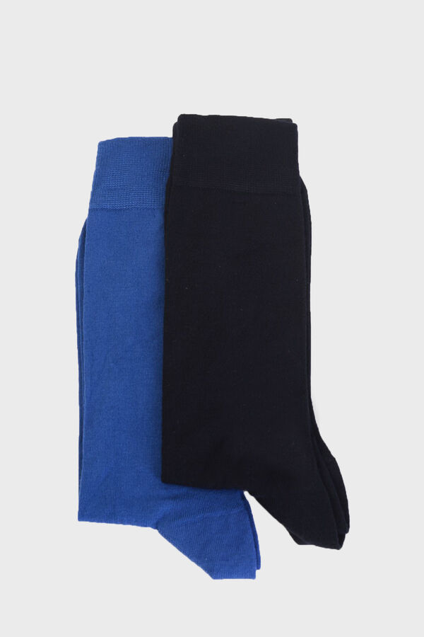 Hatem Saykı - 2'li Lacivert Çorap