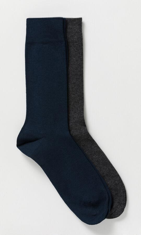 2'li Lacivert Gri Çorap