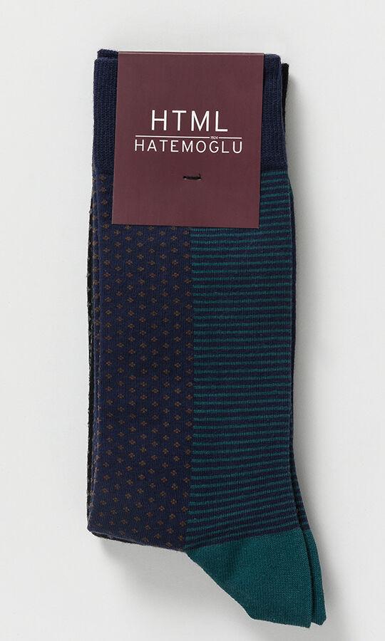HTML - 2'li Lacivert Siyah Çorap (1)