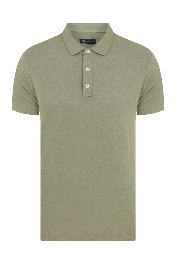 Turuncu Baskılı Polo Yaka Tişört