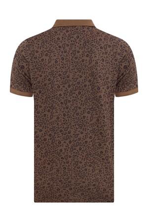 HTML - Kahverengi Desenli Polo Yaka Tişört (1)