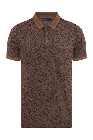 HTML - Kahverengi Desenli Polo Yaka Tişört