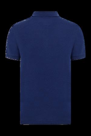Hatem Saykı - Lacivert Desenli Polo Yaka Tişört (1)
