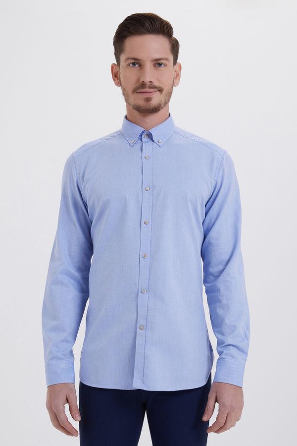 HTML - Mavi Slim Fit Gömlek