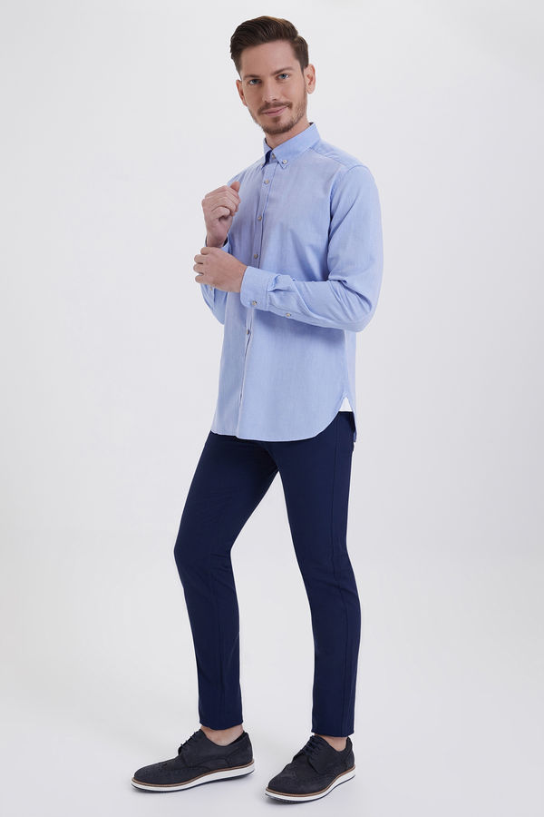 HTML - Mavi Slim Fit Gömlek (1)