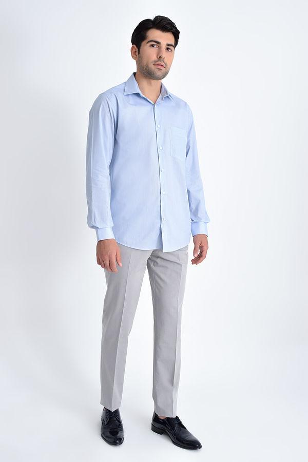 HATEMOĞLU - Mavi Baskılı Klasik Gömlek (1)