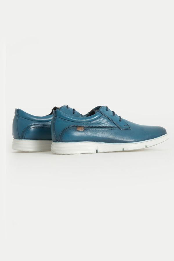 HTML - Hakiki Deri Mavi Günlük Ayakkabı (1)