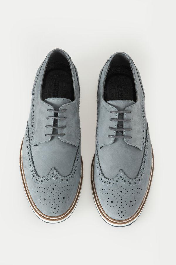 Hakiki Deri Mavi Günlük Ayakkabı
