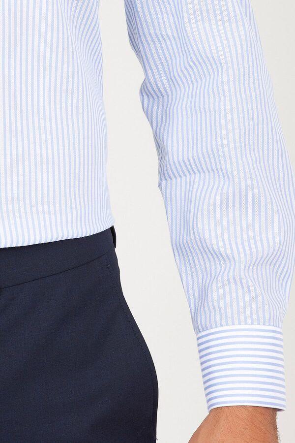 A. Mavi Ç. Çizgili Regular Gömlek