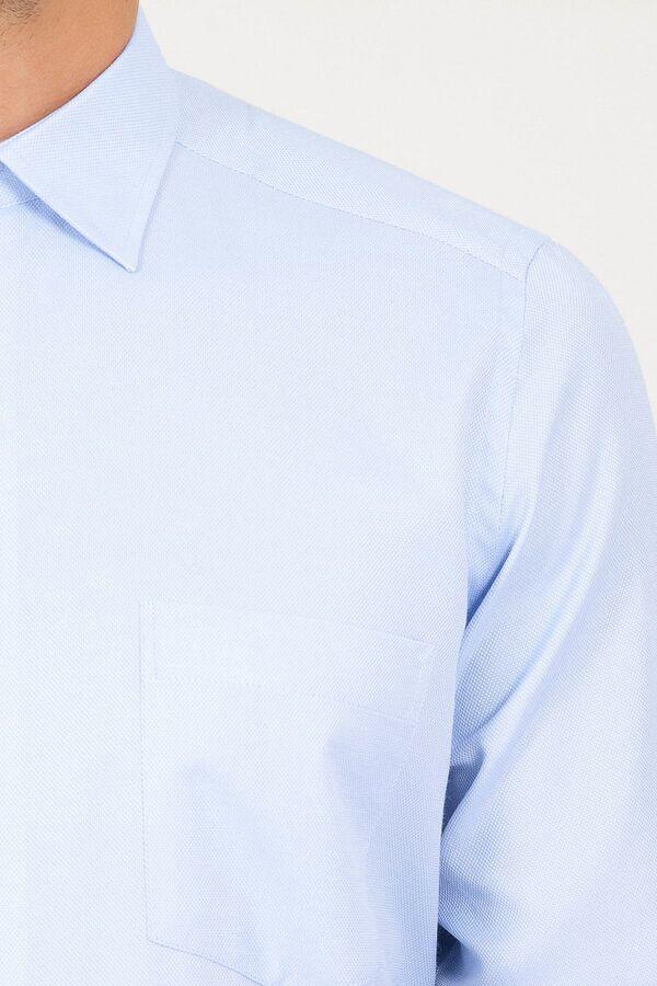 Klasik Mavi Armürlü Gömlek