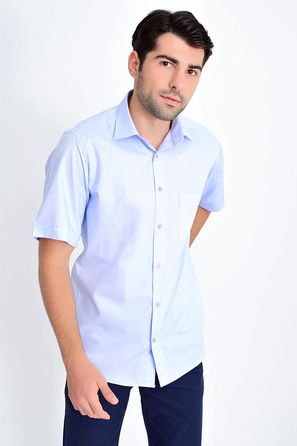 HATEMOĞLU - Mavi Desenli Klasik Gömlek