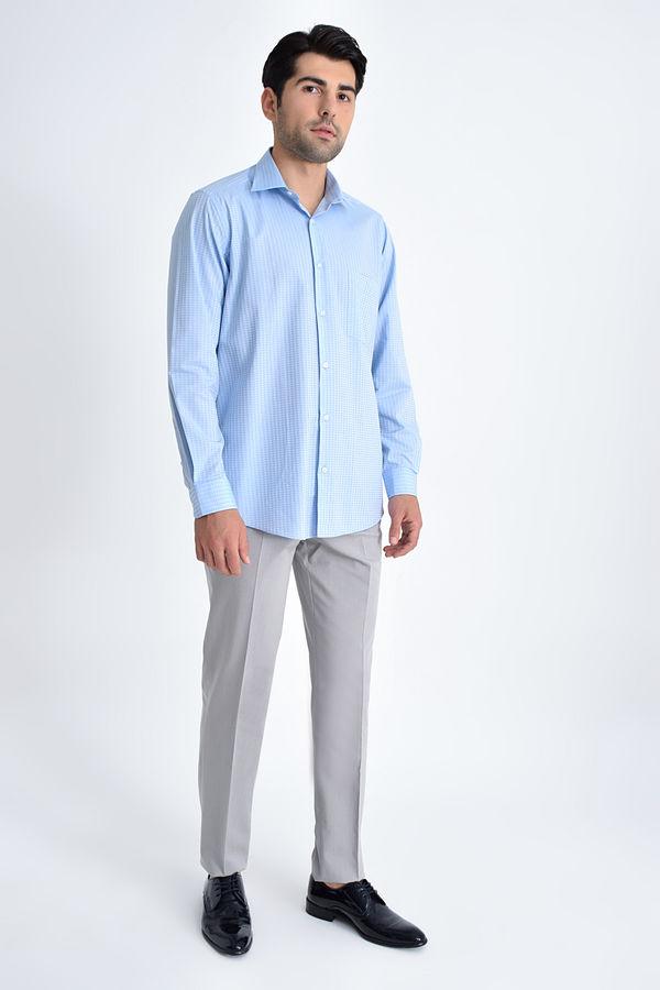 HATEMOĞLU - Mavi Desenli Klasik Gömlek (1)