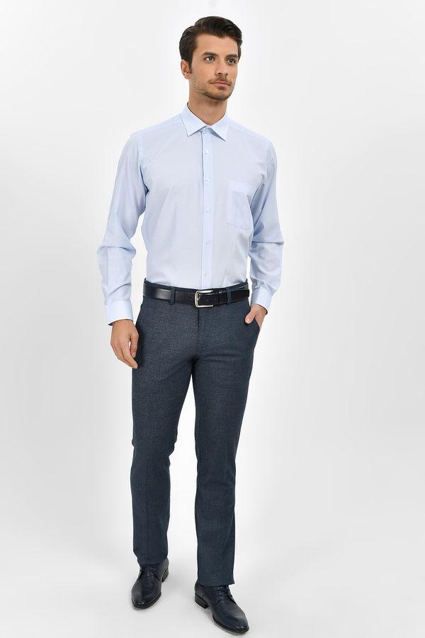 Hatem Saykı - Mavi Desenli Regular Gömlek (1)