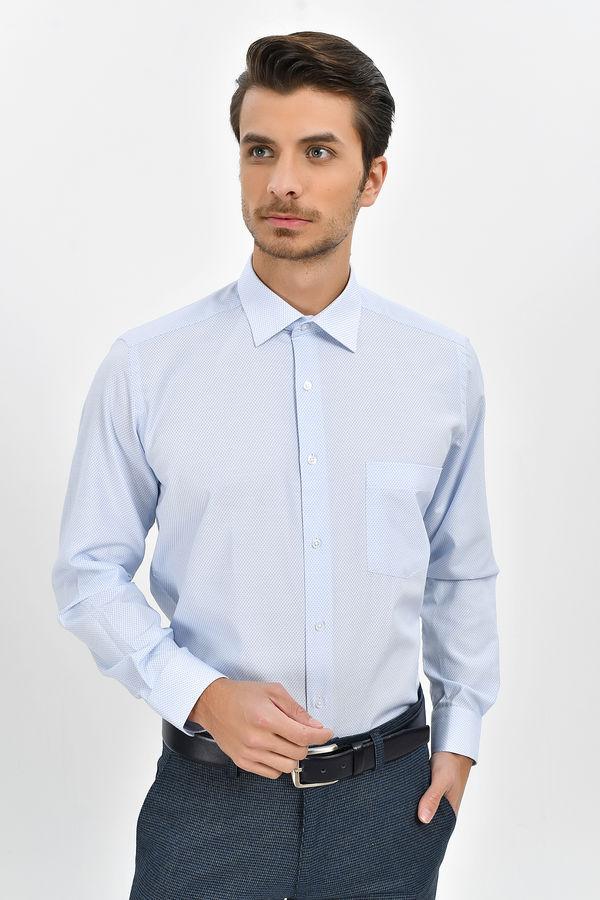 Hatem Saykı - Mavi Desenli Regular Gömlek