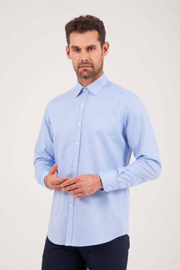 HATEM SAYKI - Mavi Desenli Regular Gömlek
