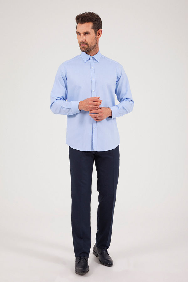 HATEM SAYKI - Mavi Desenli Regular Gömlek (1)