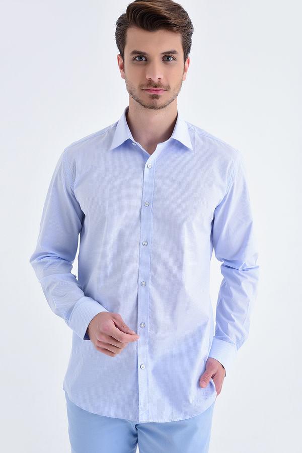 Hatemoğlu - Mavi Kareli Regular Gömlek