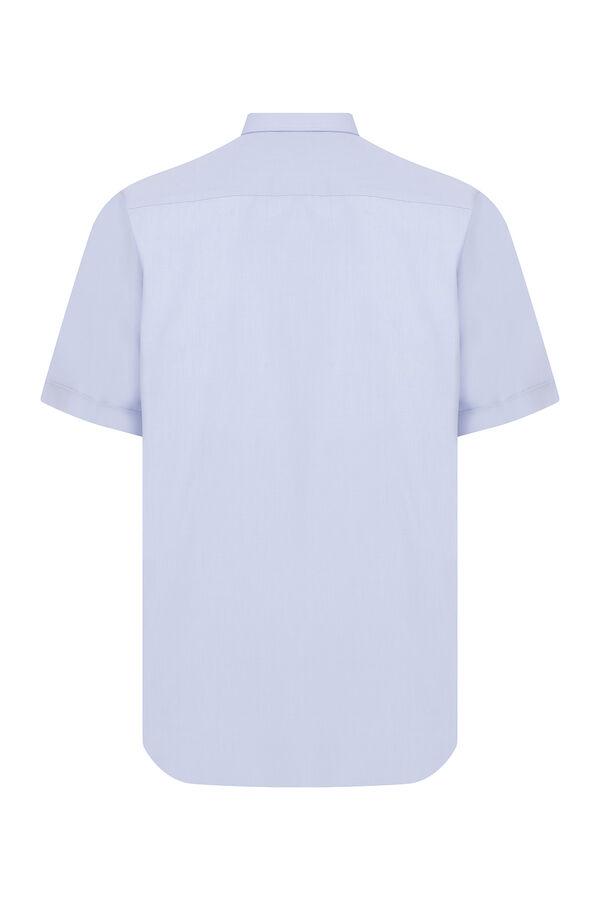 Hatemoğlu - Açık Mavi Cepli Kısa Kol Klasik Gömlek (1)