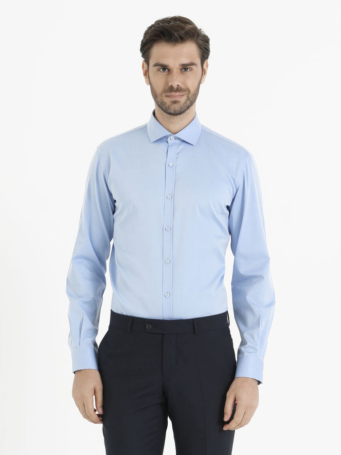 HATEM SAYKI - Mavi Slim Fit Gömlek