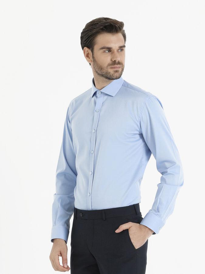 HATEM SAYKI - Mavi Slim Fit Gömlek (1)