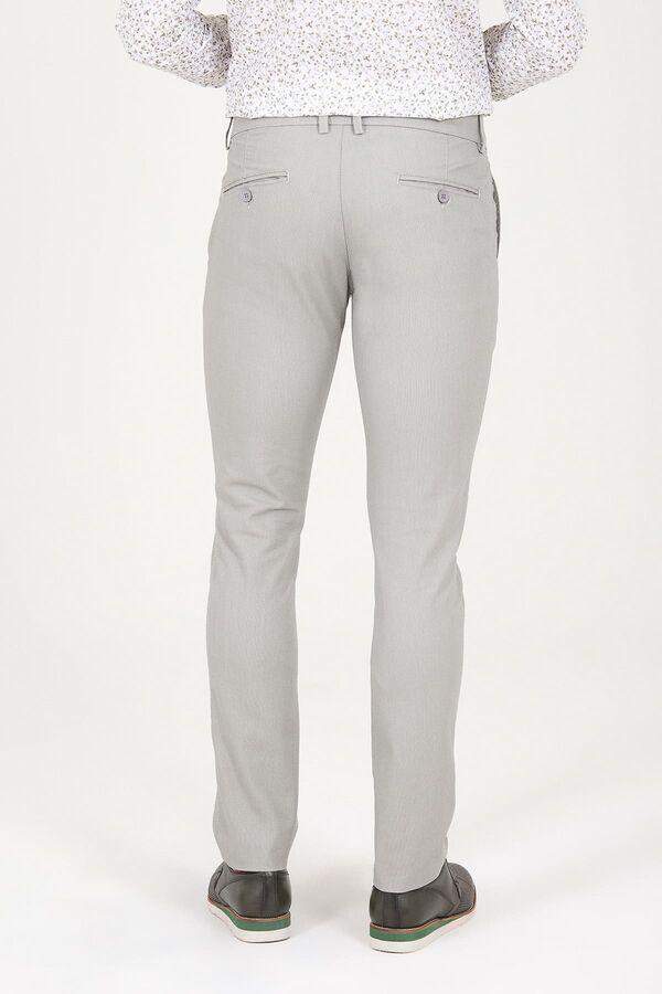 A.Haki D. Desenli Slim Fit Pantolon