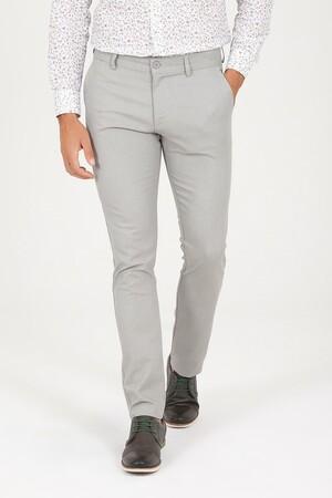 A.Haki D. Desenli Slim Fit Pantolon - Thumbnail