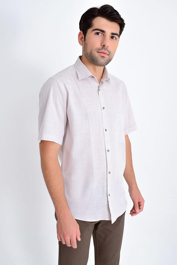 HATEMOĞLU - Kahverengi Desenli Klasik Gömlek