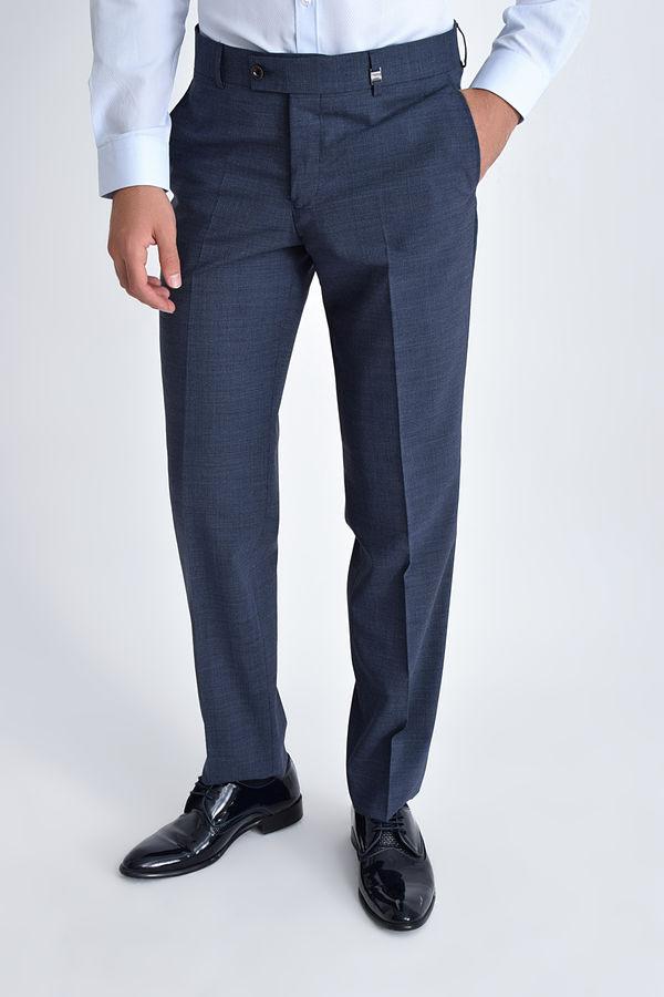HATEM SAYKI - Lacivert Kazayağı Slim Fit Pantolon