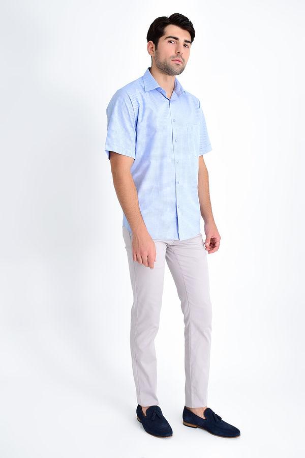 HATEMOĞLU - Mavi Kareli Klasik Gömlek (1)