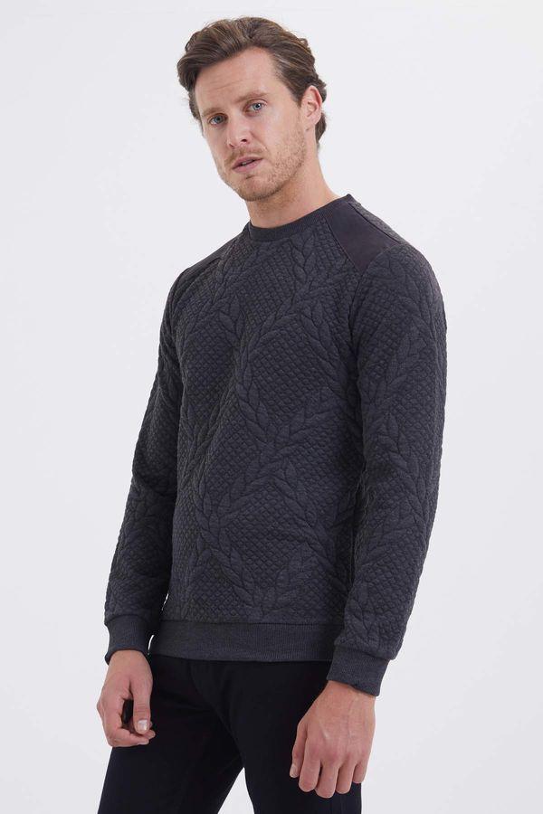 HTML - Antrasit Slim Fit Sweatshirt