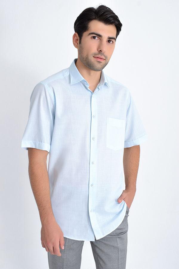 HATEMOĞLU - TURKUAZ Desenli Klasik Gömlek