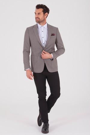 Hatem Saykı - Vizon %100 Yün Slim Fit Ceket (1)