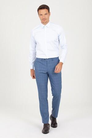 Hatem Saykı - Slim Fit Buz Mavi Gömlek (1)