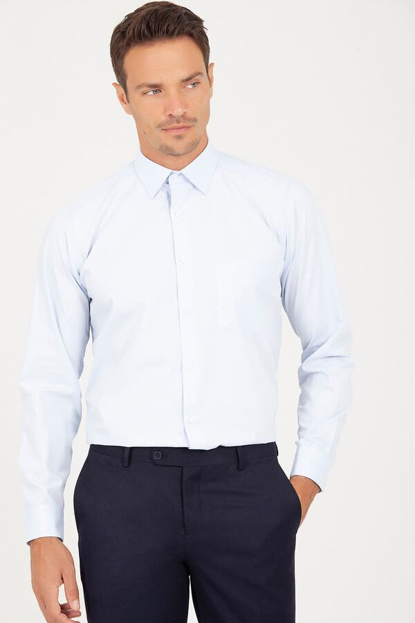 Klasik Buz Mavisi Gömlek