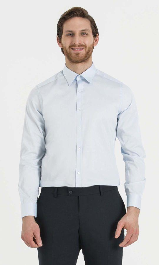 Hatem Saykı - Mavi Slim Fit Gömlek