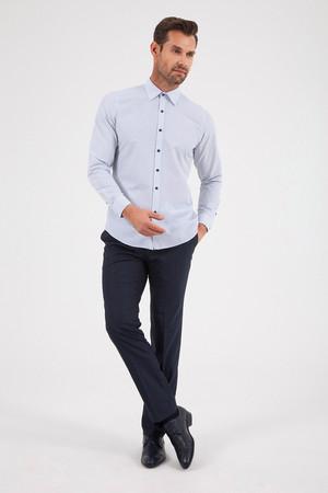 Hatemoğlu - Baskılı Slim Fit Beyaz Gömlek (1)