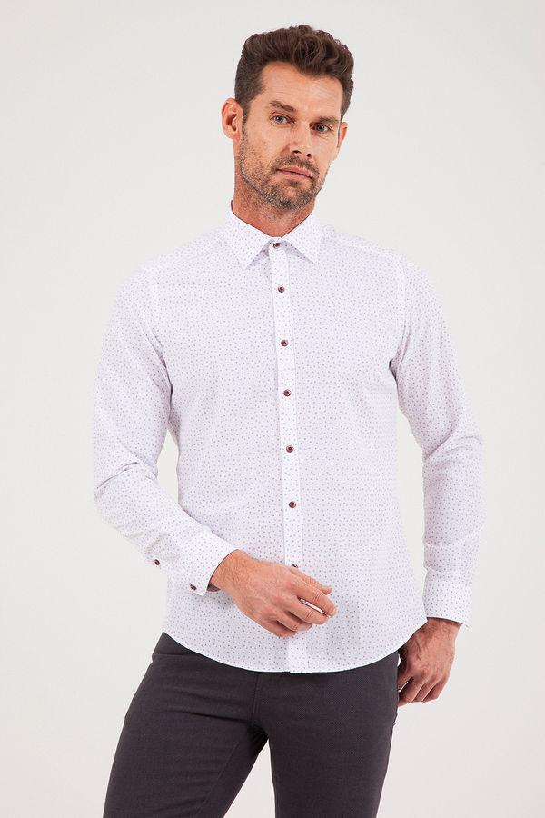 Hatemoğlu - Baskılı Slim Fit Gömlek