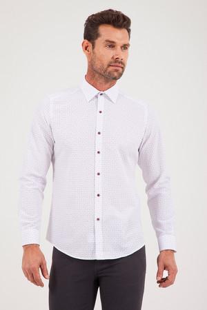 Baskılı Slim Fit Gömlek - Thumbnail
