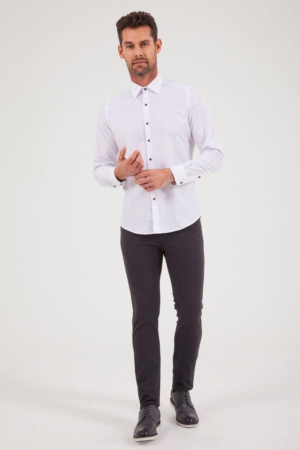 Hatemoğlu - Baskılı Slim Fit Gömlek (1)