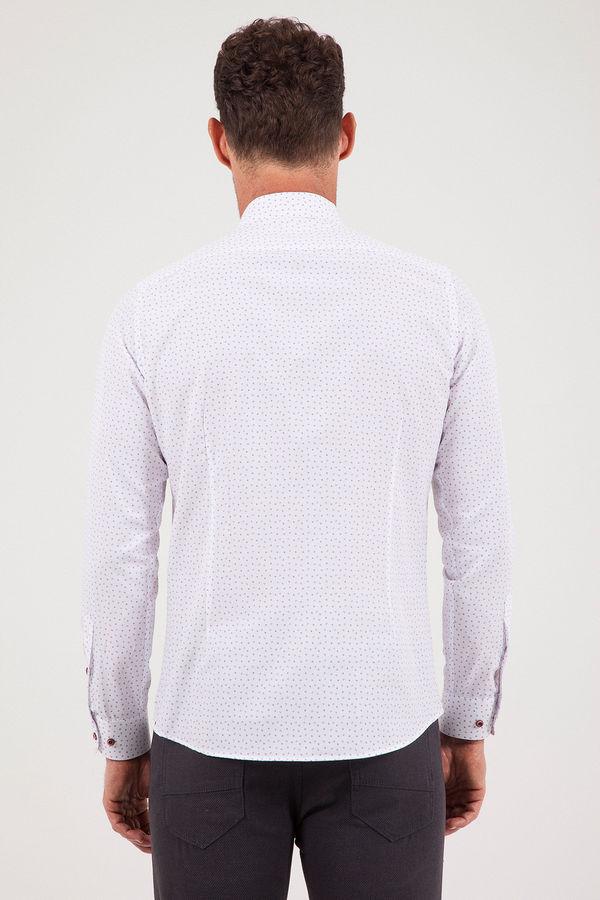 Baskılı Slim Fit Gömlek