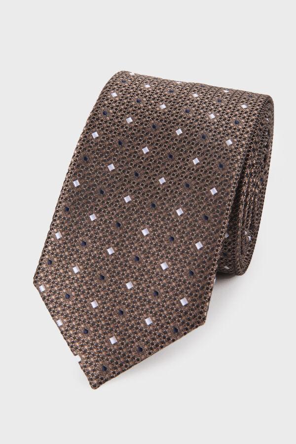 Hatemoğlu - Kahverengi Desenli Kravat