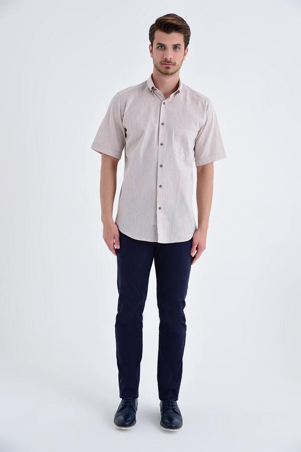 HATEMOĞLU - Bej Regular Gömlek (1)