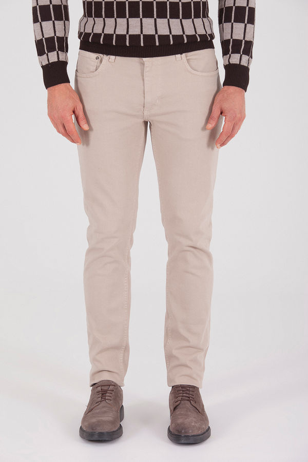 Hatem Saykı - Bej Regular Pantolon