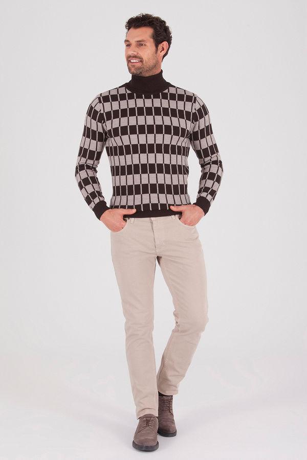 Hatem Saykı - Bej Regular Pantolon (1)