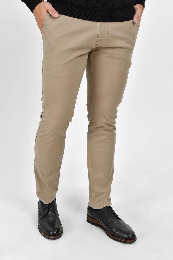 HTML - Bej Slim Fit Pantolon
