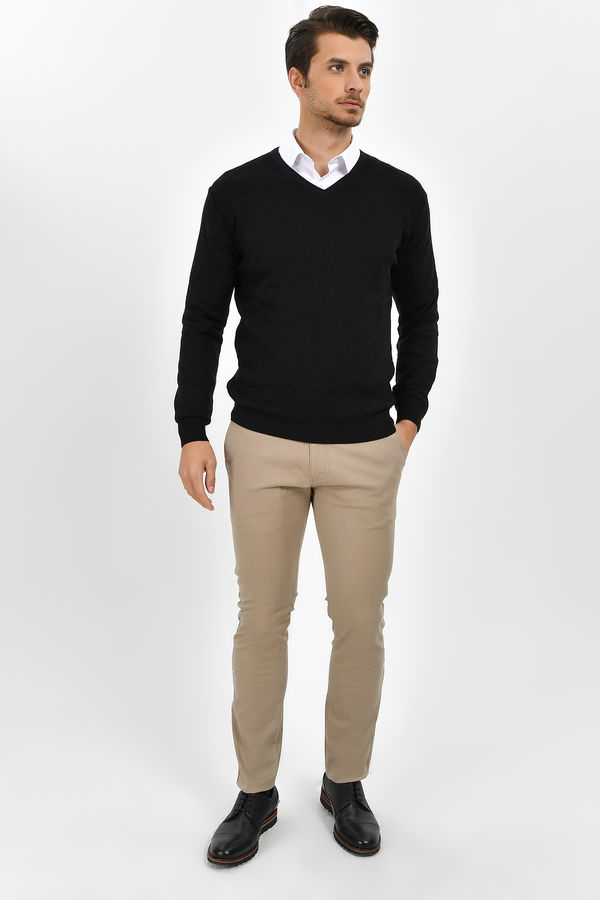 HTML - Bej Slim Fit Pantolon (1)