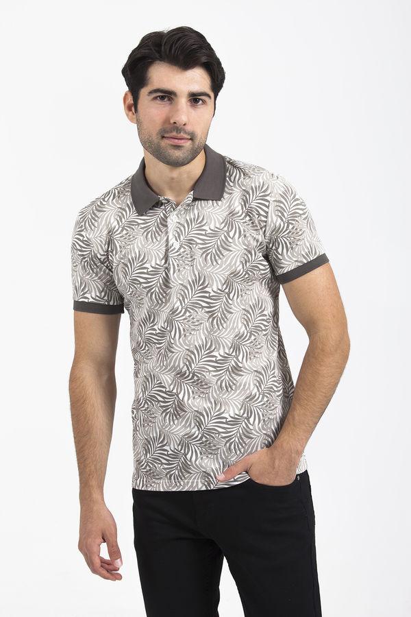 HTML - Bej Baskılı T-shirt