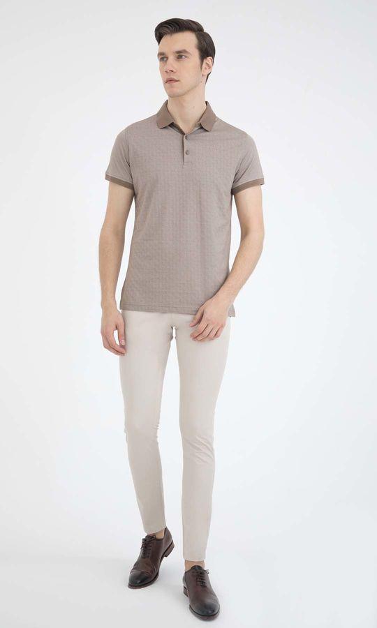 HATEM SAYKI - Bej - Beyaz - Baskılı Regular T-shirt (1)